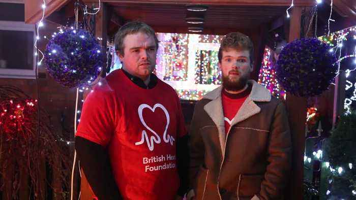Grieving son pays tribute to Christmas-mad dad by decorating family home with 20,000 lights