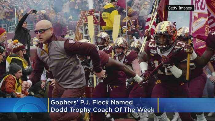 Gophers' P.J. Fleck Named Dodd Trophy Coach Of The Week