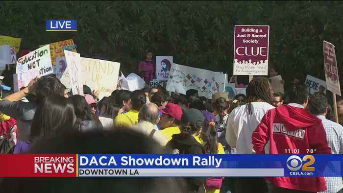 DACA Supporters Hold Rally In Downtown LA As Supreme Court Hears Case