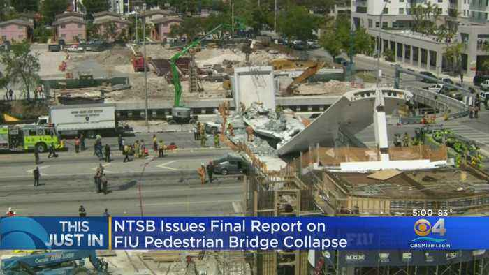 NTSB Issues Final Report On FIU Pedestrian Bridge Collapse