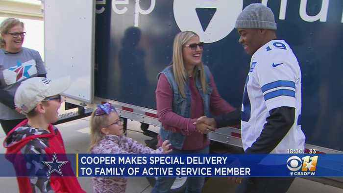 Cowboys Amari Cooper Delivers New Mattress To Family Of Active Duty Service Member