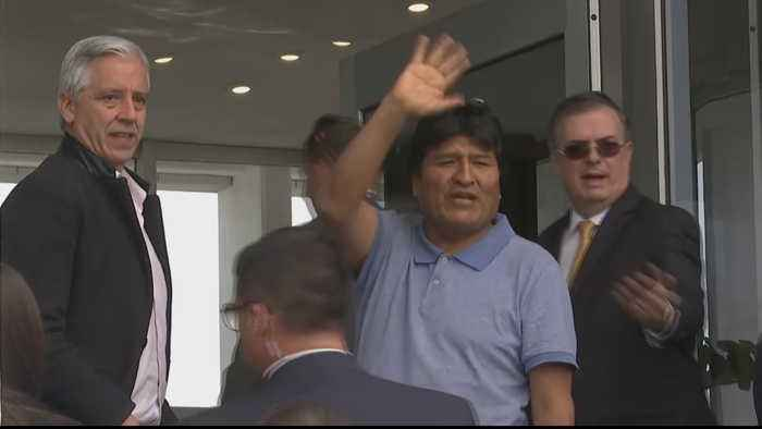 Former President Evo Morales calls for peace in Bolivia