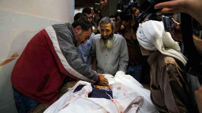 Palestinian death toll from Israeli air raids rises