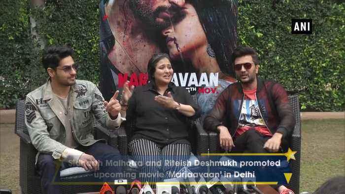 Sidharth Malhotra, Riteish Deshmukh promote Marjaavaan in Delhi