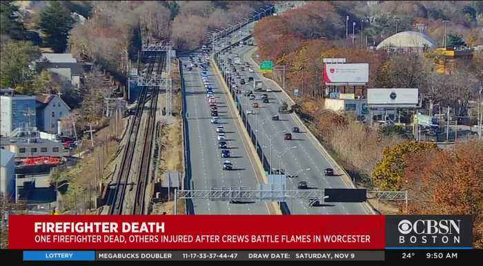 Police Escort Body Of Worcester Firefighter To Medical Examiner's Officer