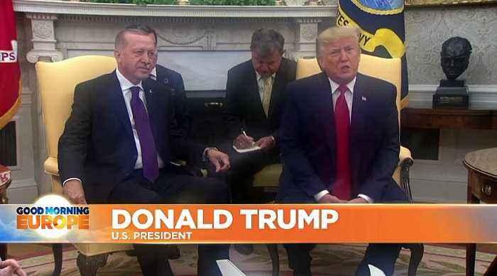 Watch: Erdogan visits Trump after US-Turkey diplomatic tension