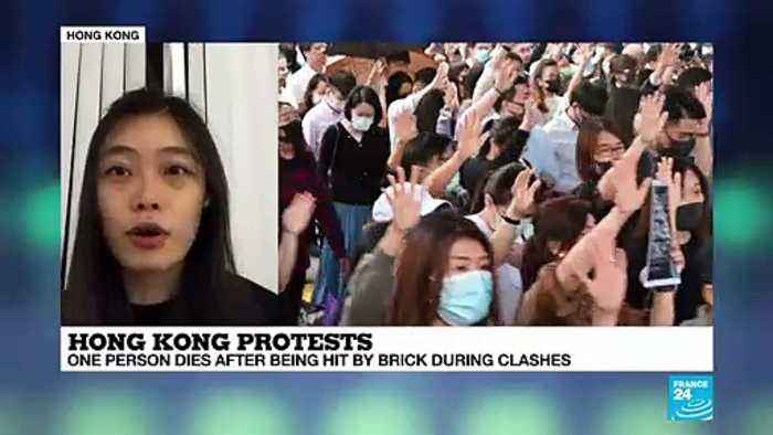 Hong Kong protests: one person dies after being hit by brick during clashes