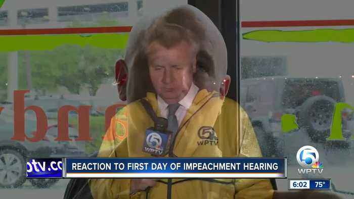Reaction to first day of impeachment hearing