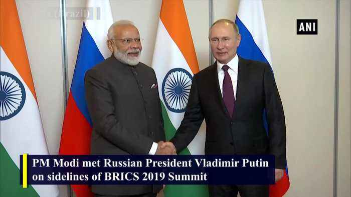 PM Modi meets Russian President Vladimir Putin on sidelines on BRICS Summit