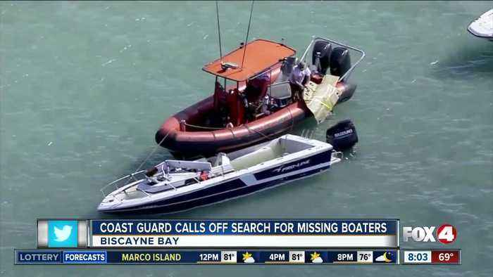 Coast Guard calls off search for missing boaters