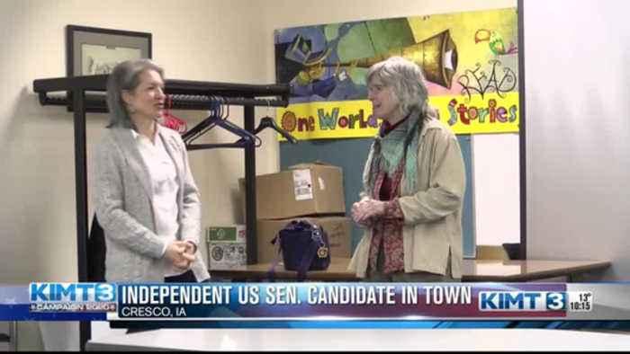 Independent U.S. Senate candidate stops in Cresco
