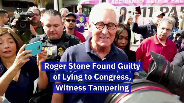 Roger Stone Found Guilty of Lying to Congress, Witness Tampering