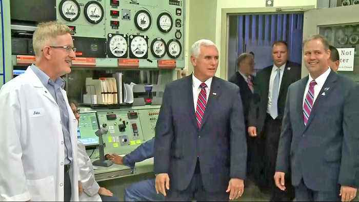 VP Mike Pence Touts Moon Mission in Visit to NASA Ames in Mountain View