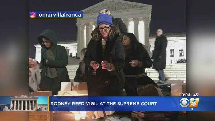 Family, Supporters Of Texas Death Row Inmate Hold Vigil Outside US Supreme Court