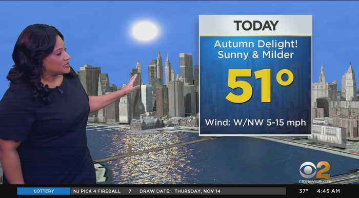 New York Weather: Fall Temps Return