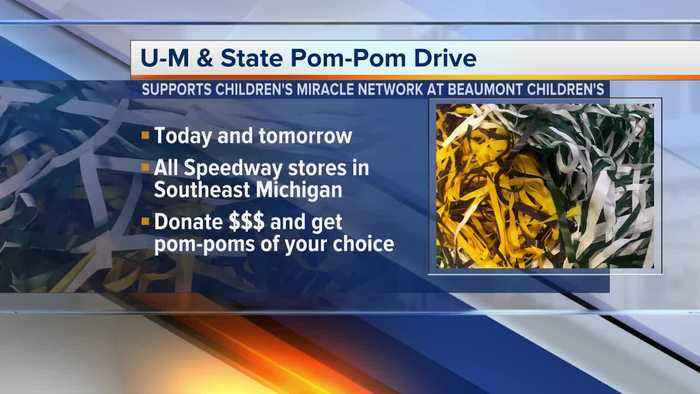 MSU/U-M Pom-Pom drive to support Beaumont Children's