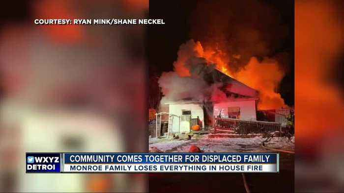 Community comes together for family displaced by Monroe house fire