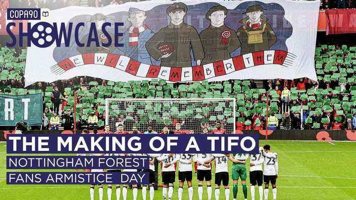 The Making of a Tifo: Nottingham Forest's Fans Armistice Day Tribute | The COPA90 Showcase