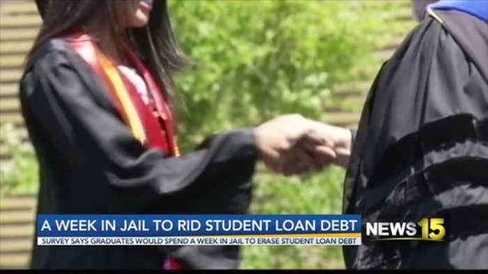Survey: College Grads Would Spend Week in Jail to Erase Student Loan Debt