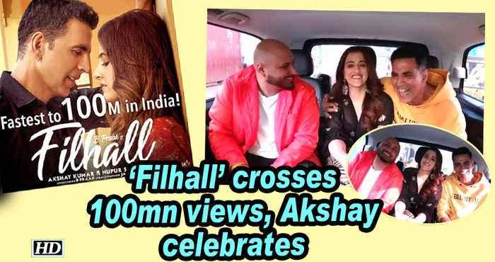 'Filhall' crosses 100mn views, Akshay Kumar celebrates