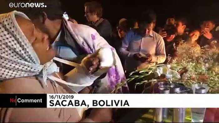 Vigil in Bolivia after five supporters of deposed president Evo Morales shot dead