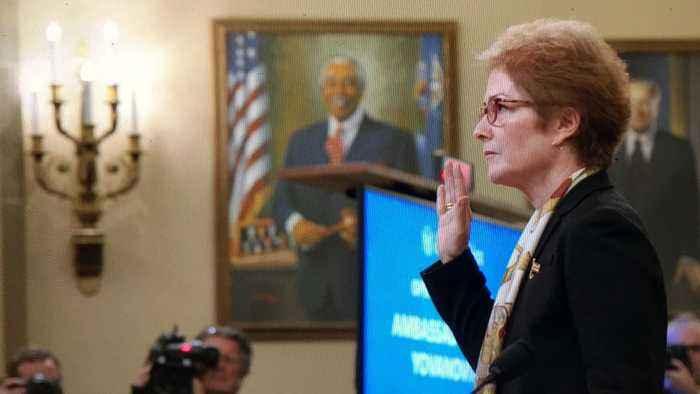 Yovanovitch Says President Made Her Feel Intimidated, Threatened