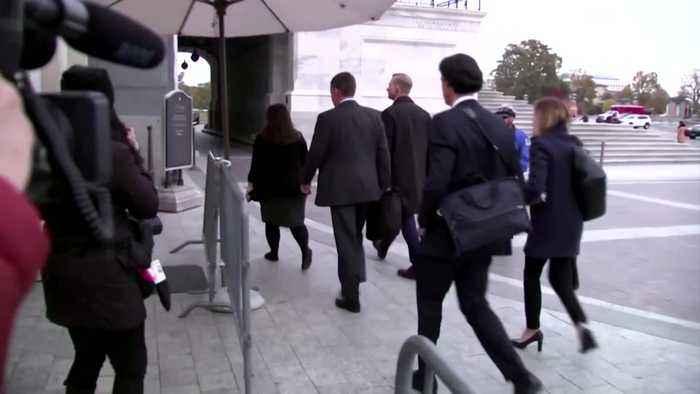 U.S. Ukraine aide Holmes arrives for deposition on Trump call