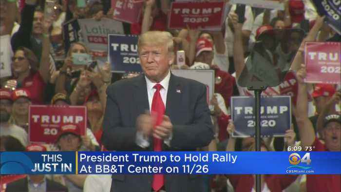 President Trump To Hold Late November Rally In South Florida