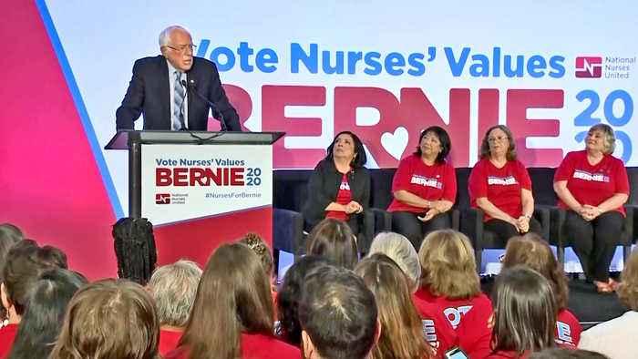 Bernie Sanders Makes Campaign Stop in Oakland