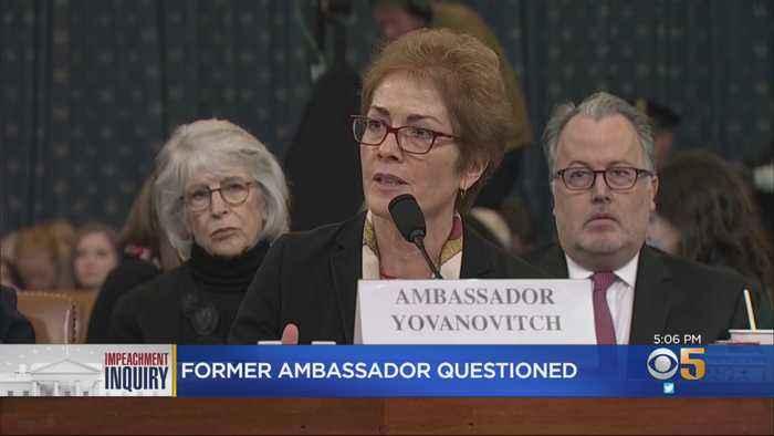 Former Ambassador To Ukraine Testifies In Impeachment Inquiry