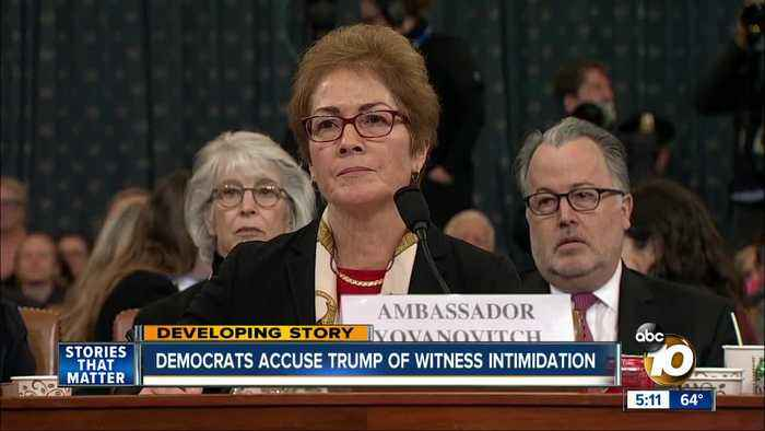 Impeachment witness makes intimidation claim