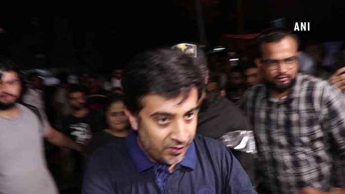 Sidharth malhotra Riteish visit multiplex to watch their film Marjaavan