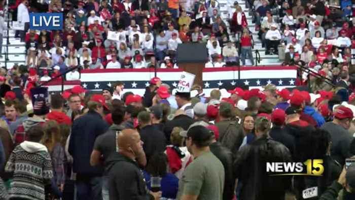Trump rally has high attendance