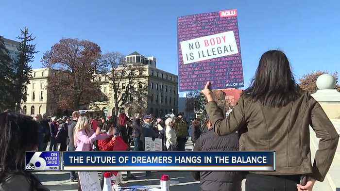 DACA advocates hold a rally at the Idaho State Capitol to support dreamers