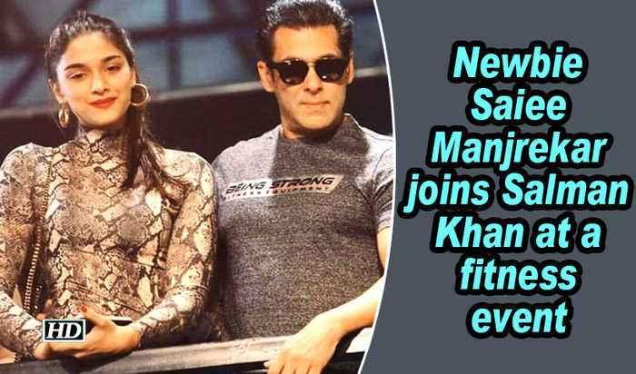 Newbie Saiee Manjrekar joins Salman Khan at a fitness event