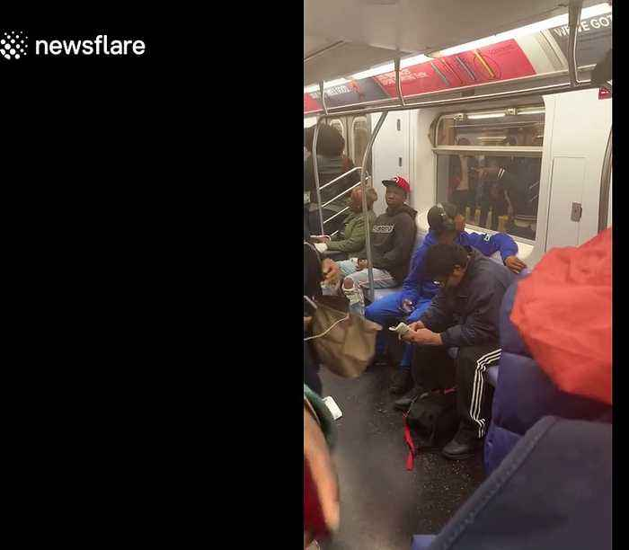 Shocking scene NYPD draw guns to arrest unarmed black teen on subway for fare evasion