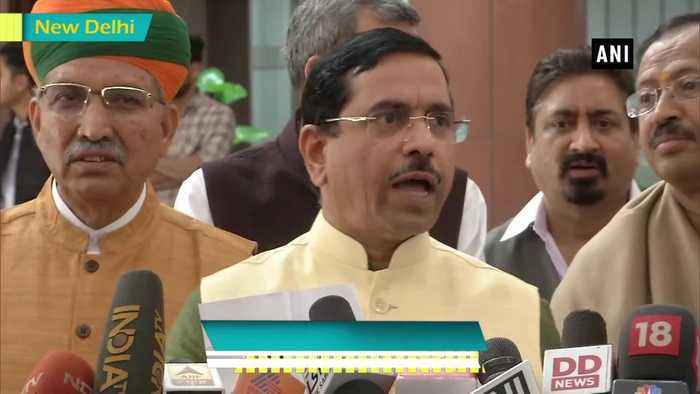 We're allotting Shiv Sena opposition seat both in LS and RS Pralhad Joshi