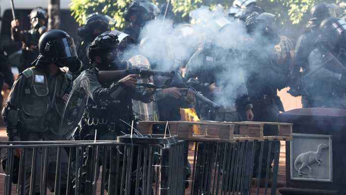 Hong Kong police storm protesters' university stronghold