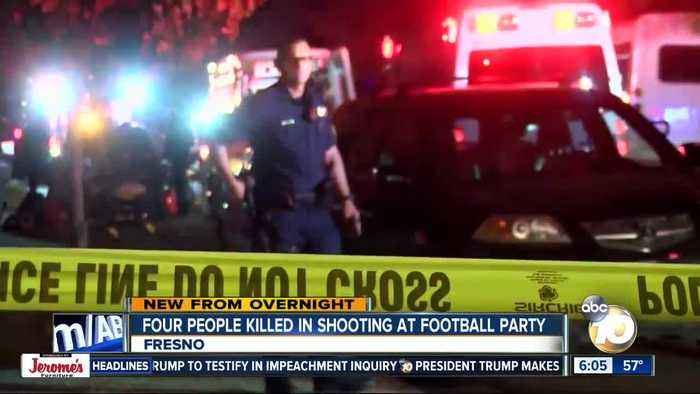 At least 4 dead in shooting at Fresno football watch party