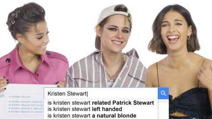 Kristen Stewart, Naomi Scott, and Ella Balinska Answer the Web's Most Searched Questions