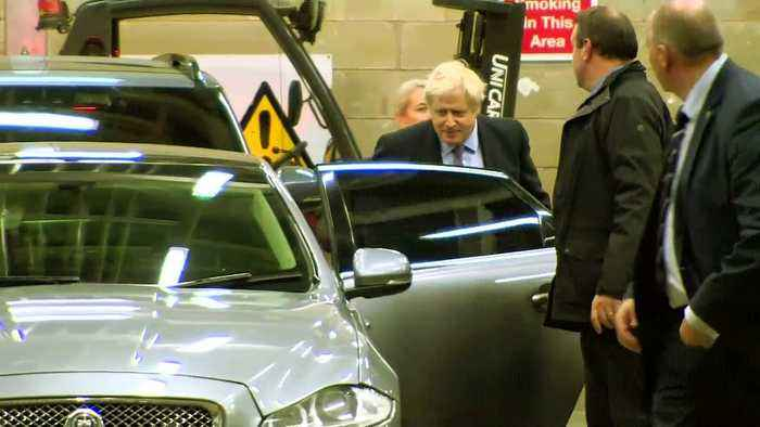 Boris Johnson departs first TV election debate