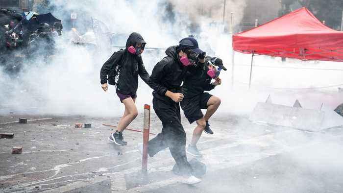 Protesters Still Clashing With Police At Hong Kong University