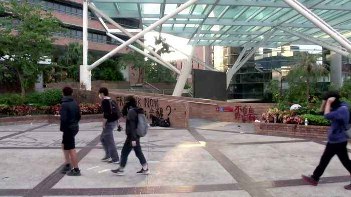 Arrests and dramatic escapes at Hong Kong's under-siege university