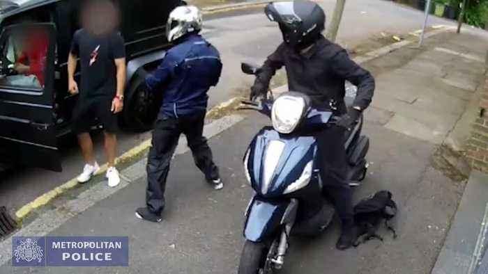 Footage released of attempted robbery on Arsenal stars Sead Kolasinac and Mesut Ozil