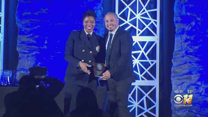 Dallas Police Officers Honored Monday Night At 2 Very Different Dinners