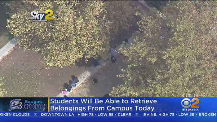 Saugus High Students Return To Retrieve Backpacks Left Amid Shooting