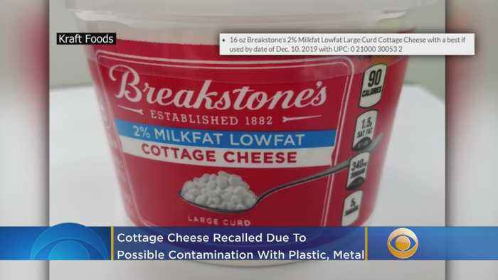 9,500 Cases Of Breakstone's Cottage Cheese Recalled Due To Possible Contamination With Plastic, Metal