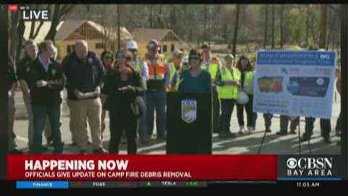 Raw Video: State Officials Give Update on Camp Fire Debris Removal