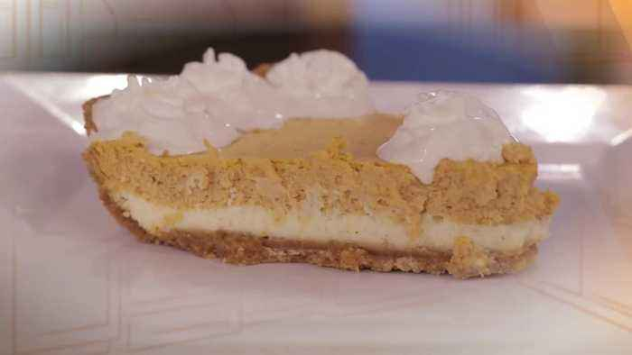 What's for Dinner? - Double Layer Pumpkin Cheesecake