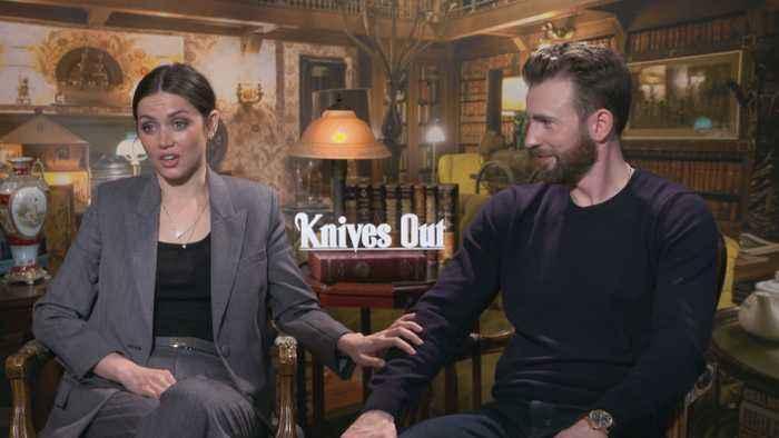Chris Evans, Ana De Armas Talk 'Knives Out'